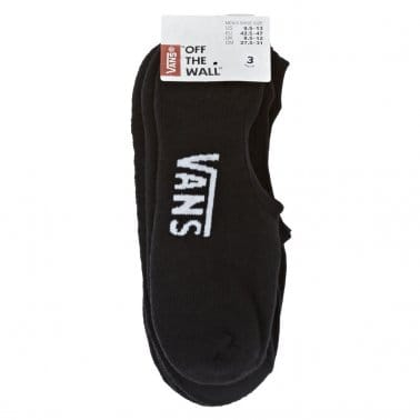 3 Pack of Super No Show Socks - Black