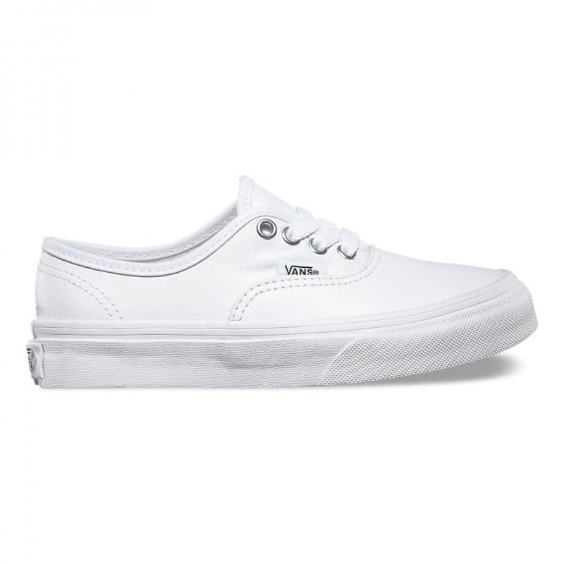 7d9937c4eb85f4 Vans Authentic Leather Kids in True White