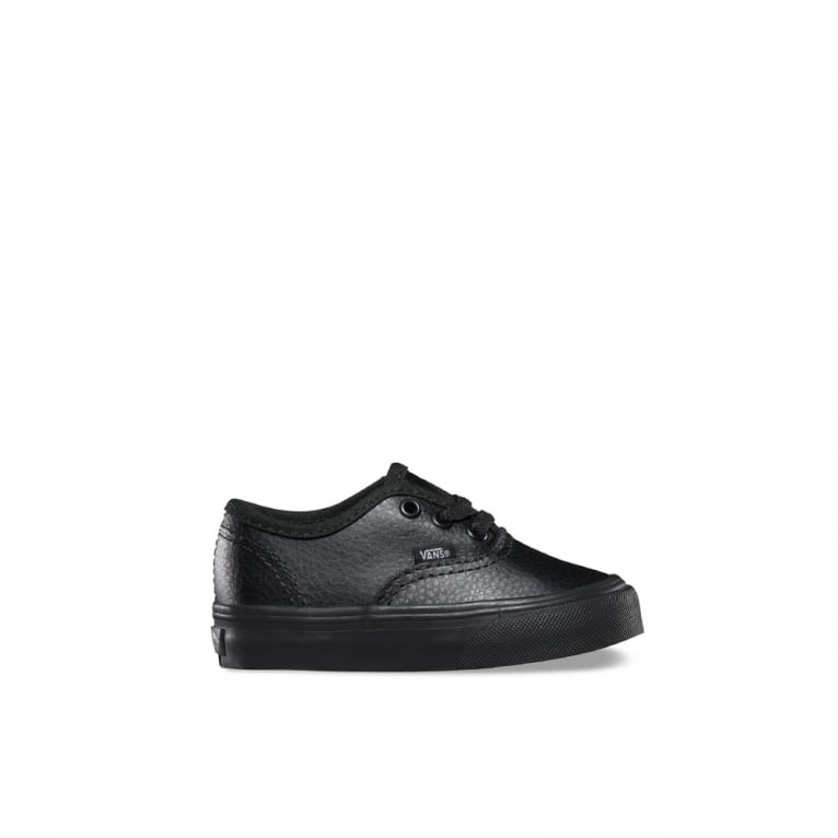 Vans Authentic Leather Toddlers - Black/Black