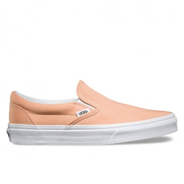 Chambray Slip-On - Coral/True White