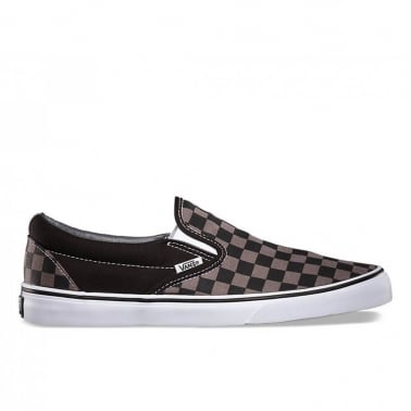 Checkerboard Slip-On - Black/Pewter