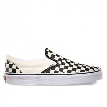 Checkerboard Slip-On - Black/White