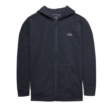 Core Basic Zip Hoodie Boys - Black Heather