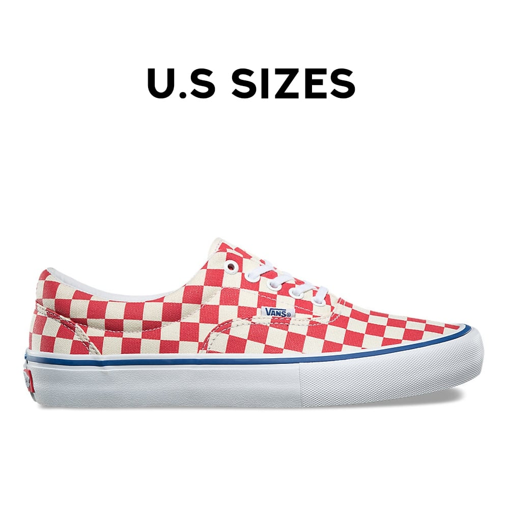 Era Pro Checkerboard Shoe Sizes