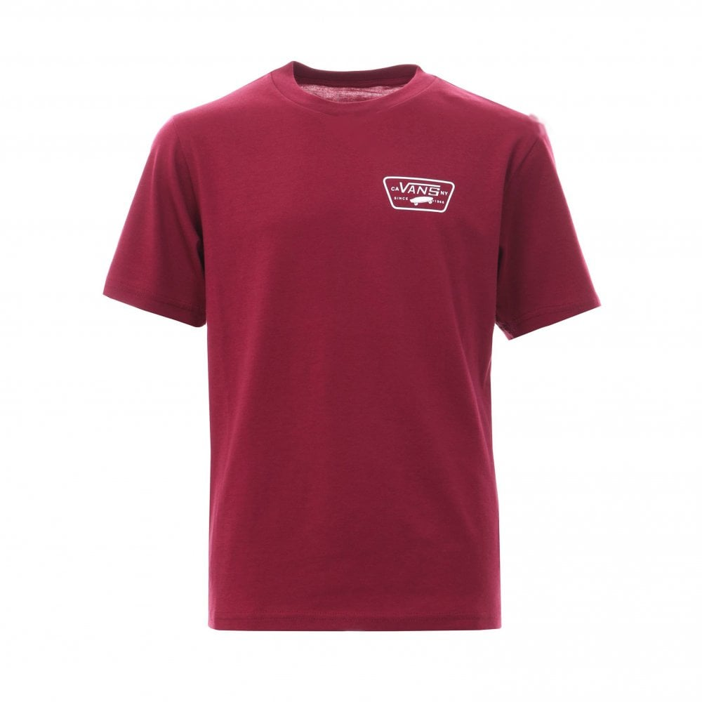 5d53fe1c Vans Full Patch Back T-Shirt Boys - Rumba Red