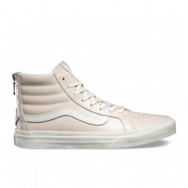 Leather Sk8-Hi Slim Zip - Whispering Pink/Blanc De Blanc