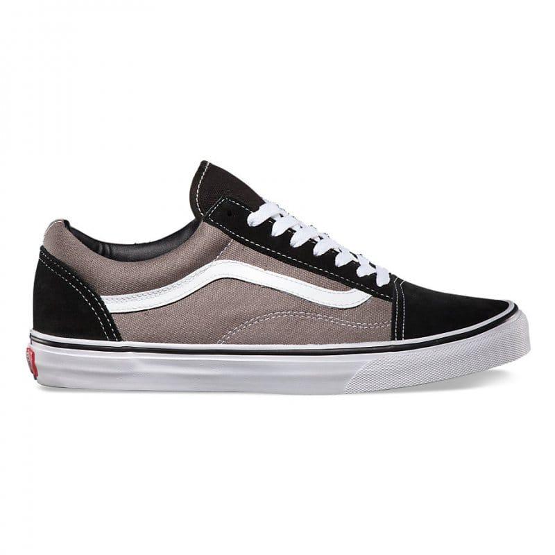 vans old skool shoes black pewter