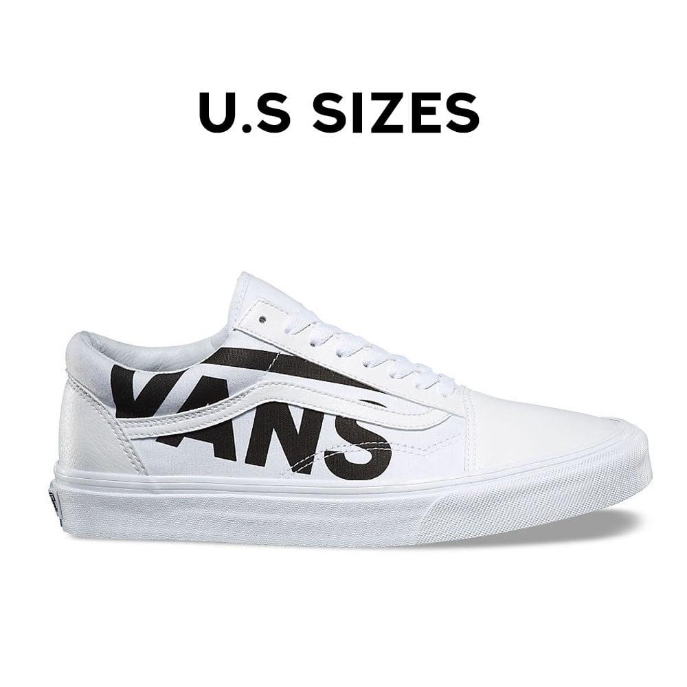 Vans Old Skool Black Logo White Skate Shoes | Skate shoes
