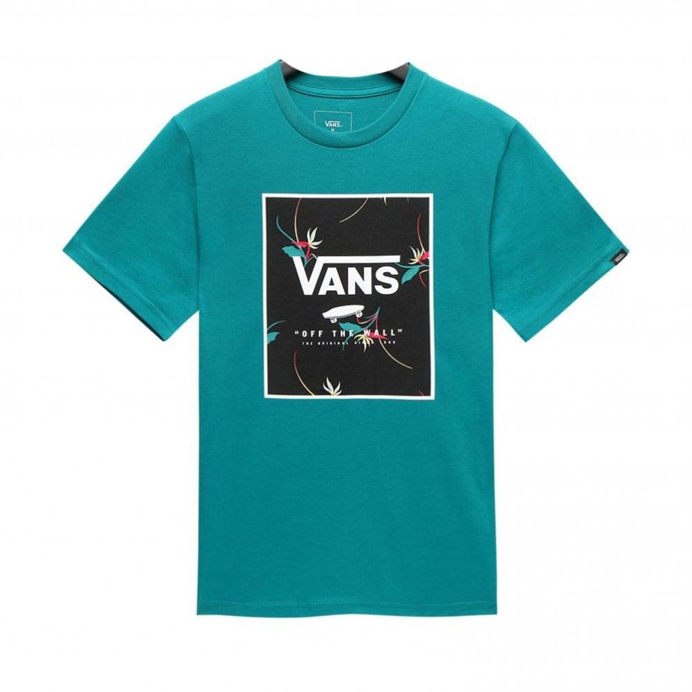 d6e943fded Vans Print Box T-Shirt Boys - Quetzal Green