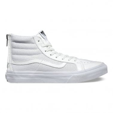 SK8 Hi Slim Zip - Perforated Leather/White