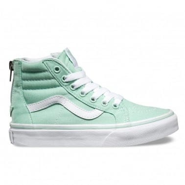 Sk8 Hi Zip Kids - Gossamer Green/True White