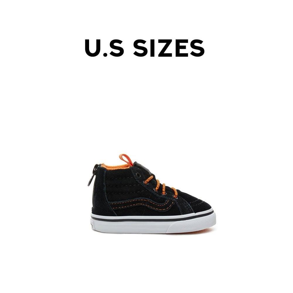 36843cab03 Sk8-Hi Zip MTE Toddlers - Orange Black
