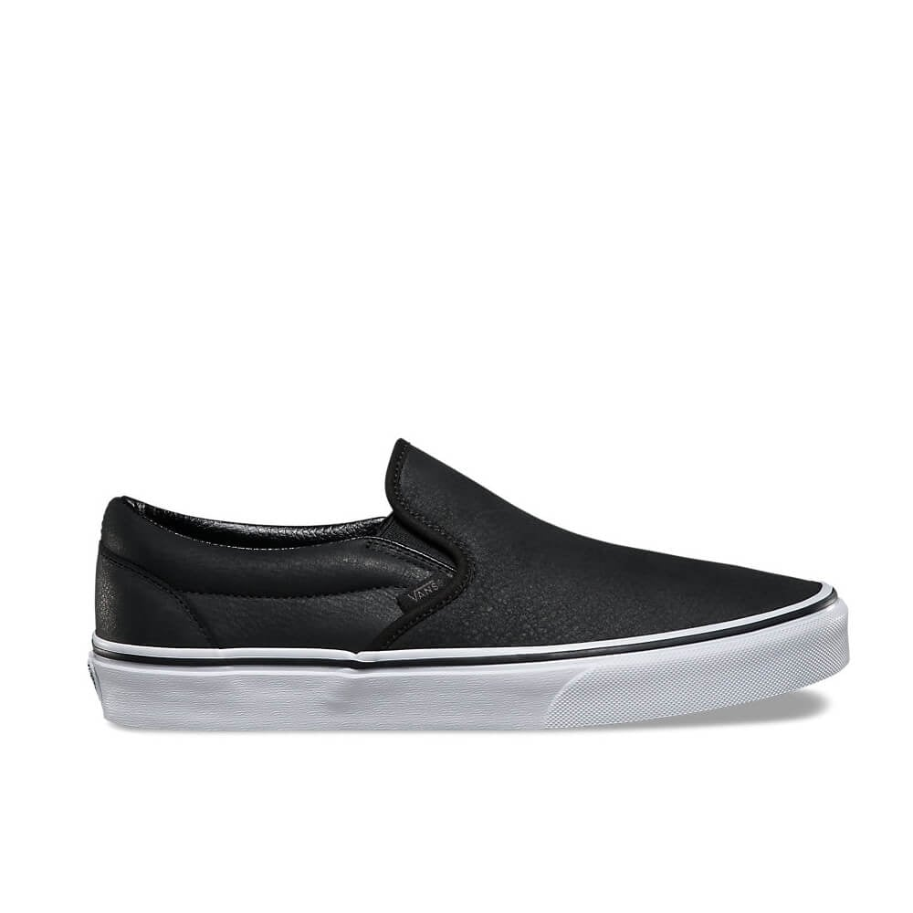9a04a4087efd98 Slip On Premium Leather - Black White