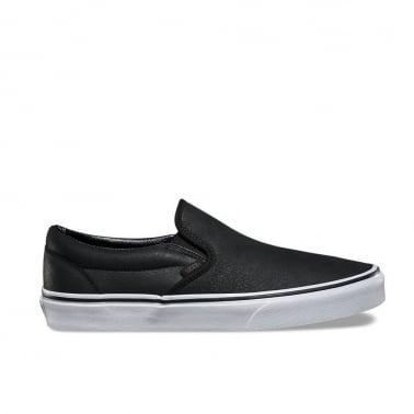 Slip On Premium Leather - Black/White