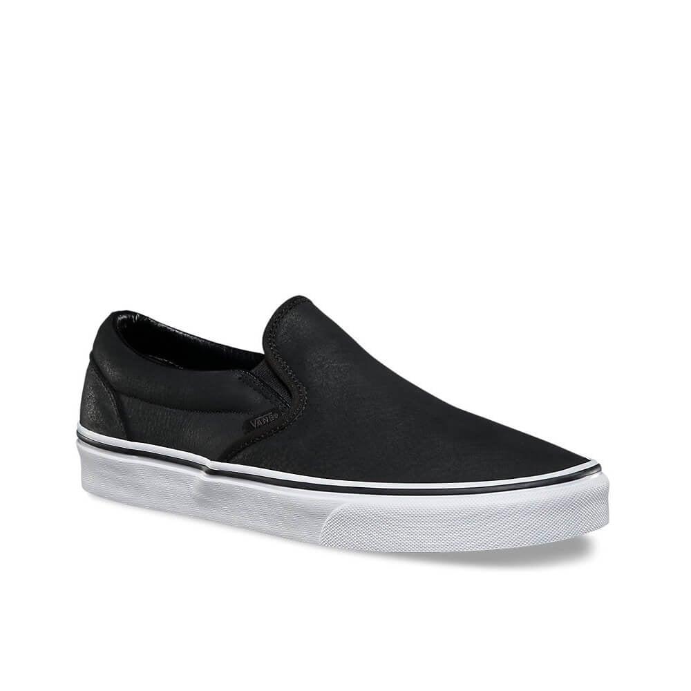 eab2fd56c3f2 Slip On Premium Leather - Black White
