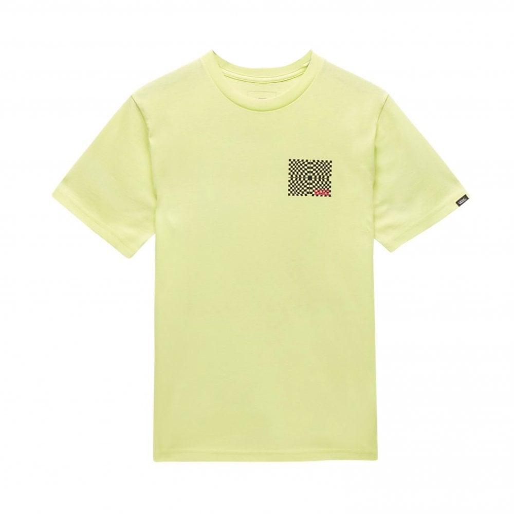 c30411be Vans Warped Check T-Shirt Boys - Sunny Lime