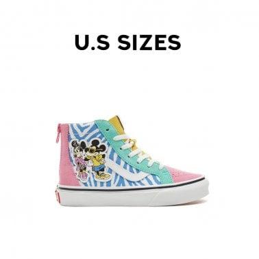 469705bedd4fe8 Sk8-Hi Zip Kids Sale. Vans x Disney ...