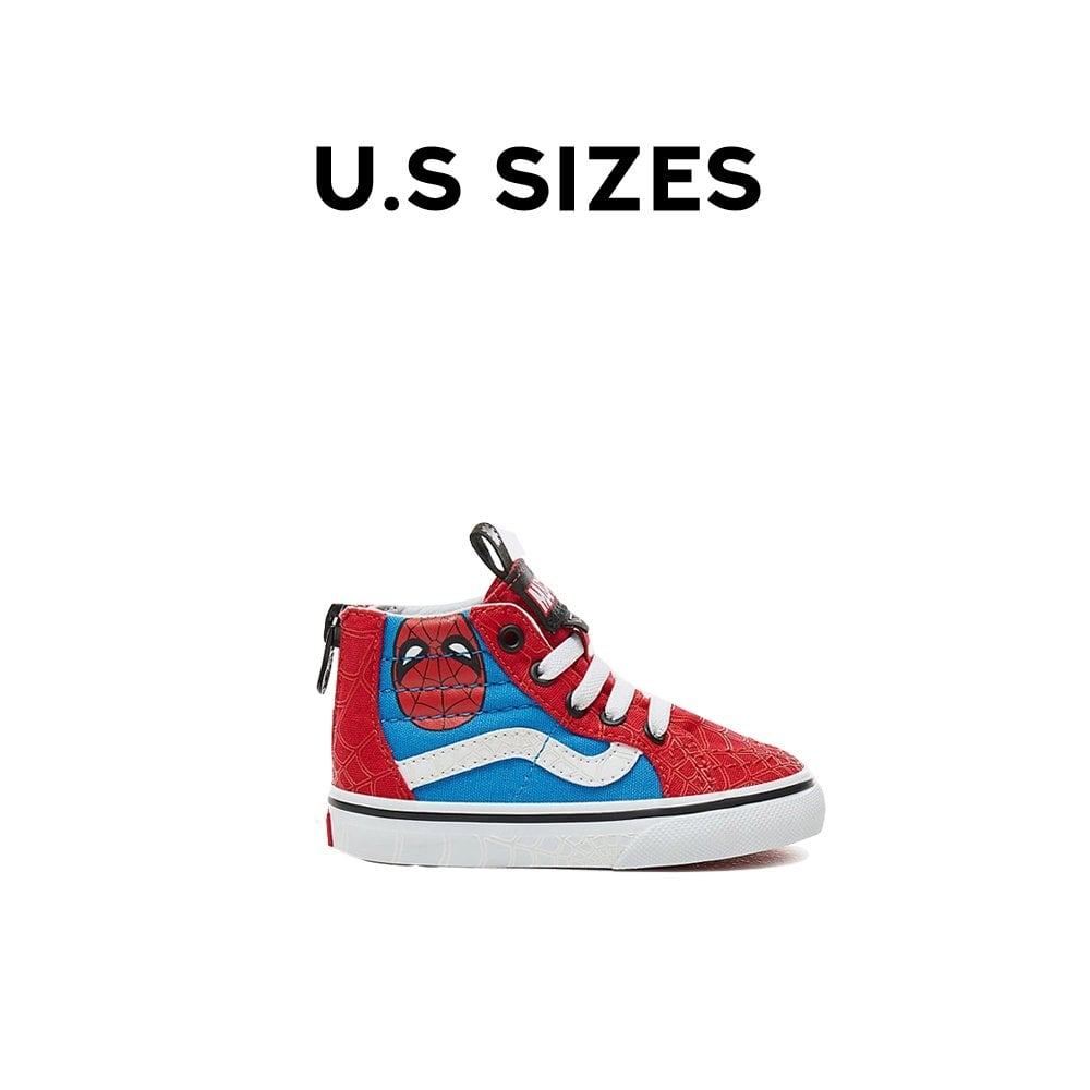 960665b8ae8 Vans x Marvel Sk8-Hi Zip Toddler