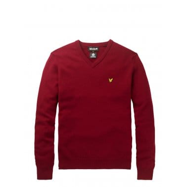 Vn Pullover Berry