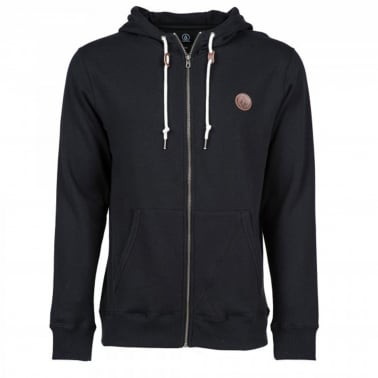 Single Stone Zip Hood - Black