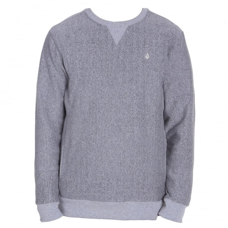 Volcom Static Stone Crew Neck Sweatshirt - Grey