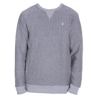 Static Stone Crew Neck Sweatshirt - Grey
