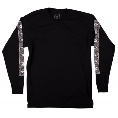 Slippery Long Sleeve T-Shirt - Black/White